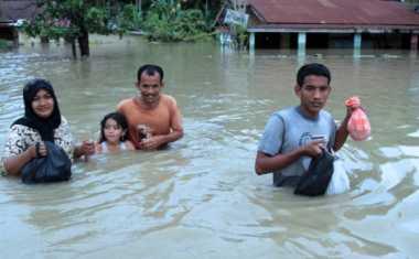 Banjir di Aceh, Empat Ribu Warga Mengungsi