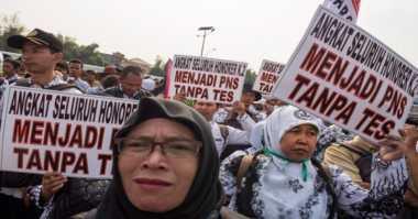Bertolak ke Jakarta, Ratusan Guru Honorer Bantul Geruduk Istana