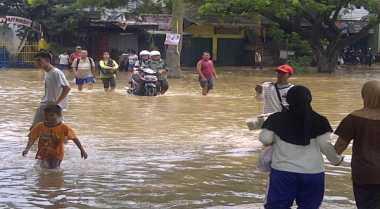 Banjir di Sidoarjo Kian Parah, Sekolah Liburkan Siswanya