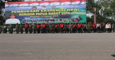 Danjen Kopassus Sambut Tim Ekspedisi NKRI di Papua Barat