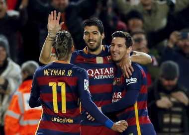 Trisula MSN Diistirahatkan di Semifinal Copa del Rey