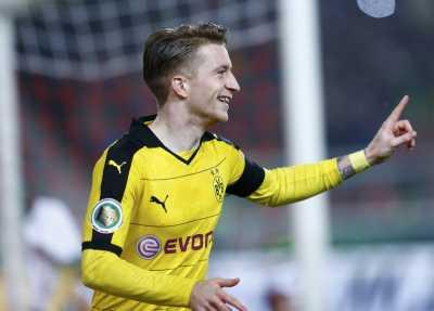 Reus dan Aubameyang Bawa Dortmund Unggul di Babak Pertama