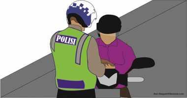 Hindari Razia, Pemotor Tabrak Dua Pengendara