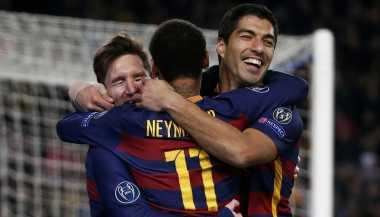 Messi dan Neymar Tak Merasa Tersaingi dengan Kehadiran Suarez