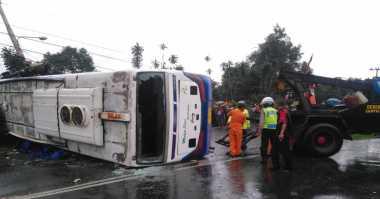Biaya Korban Luka Tabrakan Beruntun, Ditanggung Pihak Bus