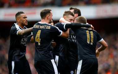 Gol Penalti Vardy Bawa Leicester Unggul