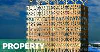 Unik, Gedung Terjangkung di Stockholm Berfasad Kayu Motif Angka
