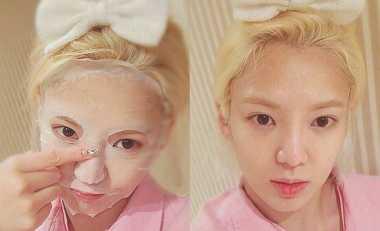 FOTO: Demi Wajah Cantik, Hyoyeon SNSD Rajin Pakai Masker