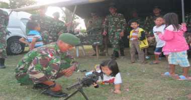 Pasukan TNI Perbatasan Gelar Pameran Alusista