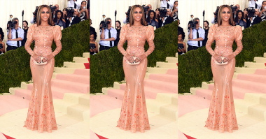 Met Gala 2016, Beyonce Tampil Anggun dengan Gaun Bernuansa Nude Peach