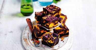 Resep Bekal Camilan, Brownies Marmer Labu Keju