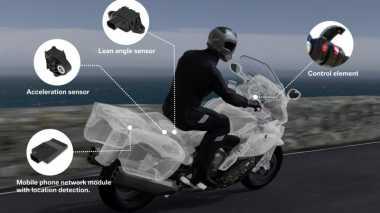 BMW Perkenalkan Teknologi Keselamatan Baru untuk Sepeda Motor