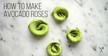 FOTO: Cantiknya Avocado Rose, Simak Cara Membuatnya