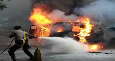 Angkot Terbakar di Bogor, Sembilan Penumpang Terluka