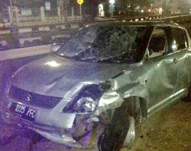 Kecelakaan Suzuki Swift dan Pejalan Kaki Terjadi di Kalibata