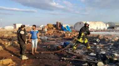 Serangan Udara Hantam Kamp Pengungsi Tewaskan Puluhan Orang