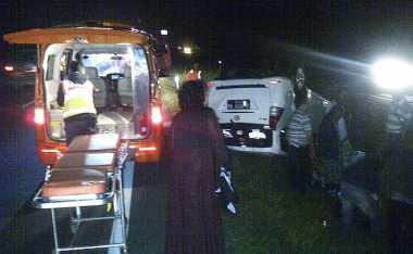 Diduga Sopir Mengantuk, Avanza Terguling di Tol Tangerang - Merak