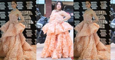 Unik, Desainer Thailand Ini Rancang Gaun dari Kerupuk Udang!