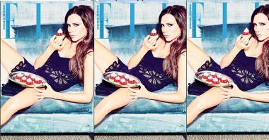 Hiasi Cover Majalah Elle China, Victoria Beckham Berpose Menggoda