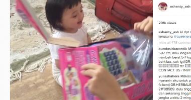 FOTO: Punya Mainan Baru Baby Arsy Heboh Sendiri