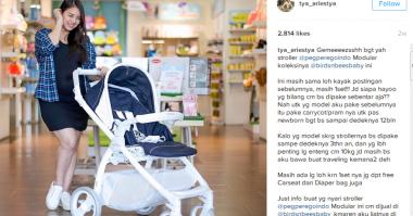 FOTO: Tya Ariestya Uji Coba Menjadi Ibu