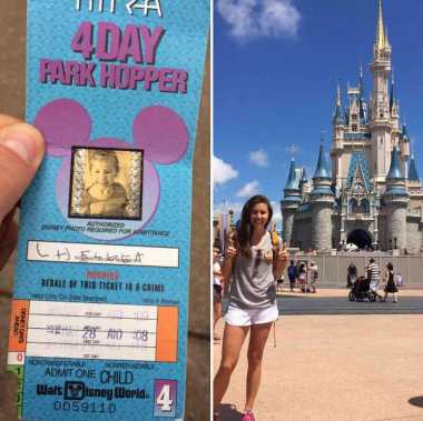 Masuk Disneyland, Gadis Amerika Ini Pakai Tiket Usang