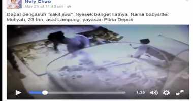 Netizen Minta Kasus Video Babysitter Sadis Diusut