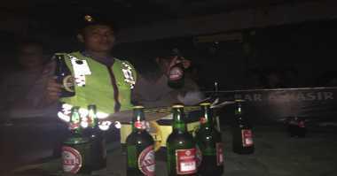 Gelar Operasi Pekat, Polisi Sita Ratusan Botol Miras