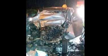 Xenia Kecelakaan di Tol Gedong Panjang, Pengemudi Tewas Terjepit