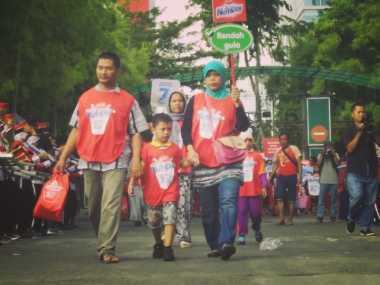 Sambut Hari Susu Nusantara, 700 Keluarga di Surabaya Ikuti Funwalk