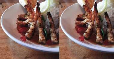 FOTO: Udang Bakar Makan Siang Alice Norin Bikin Ngeces