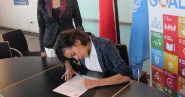 Eva Celia Jadi Duta UNDP