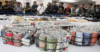 Ciptakan Ketenangan Ibadah Ramadan, Polres Inhil Razia Pedagang Petasan
