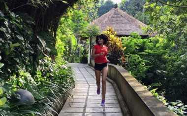FOTO: Farah Quinn Tunjukkan Eksotisme Lari di Ubud Bali