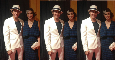 FOTO: Vino G Bastian Kompak Berbusana dengan Istri di Red Carpet IMA 2016