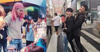FOTO: Kehebohan Lee Jong Suk dan Lee Tae Hwan di Syuting W