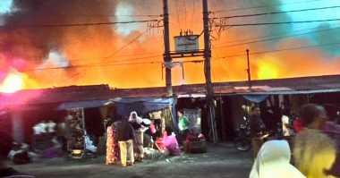 Permukiman Padat Penduduk Terbakar di Pagaralam
