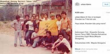 FOTO: Terungkap! Foto Jokowi Hobi Naik Gunung di Tahun 1983