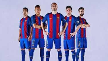 Barcelona Resmi Luncurkan Jersey Kandang 2016-2017