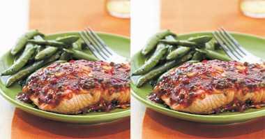 Resep Salmon Fillet Siram Sambal Bawang Pedas untuk Makan Malam
