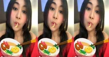 TOP FOOD 9: [FOTO] Lucunya Anisa Eks Chibi Makan Mi Virtual