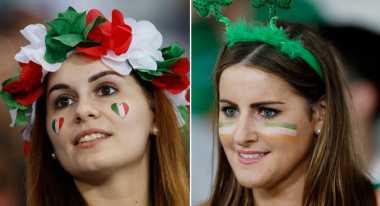 Intip Riasan Wajah Para Supporter Cantik di Euro 2016