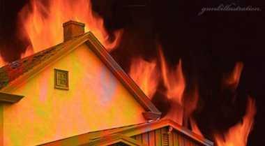 Akibat Korsleting, Rumah Dua Lantai di Depok Terbakar