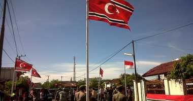 Polisi Temukan 107 Lembar Bendera Bulan Bintang di Aceh Timur