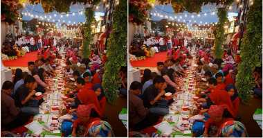 FOTO: Ratusan Orang Buka Puasa di Jalan Braga Bandung