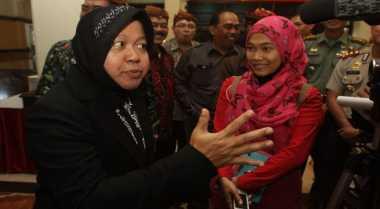 Risma Jamin Keamanan Surabaya Selama Mudik