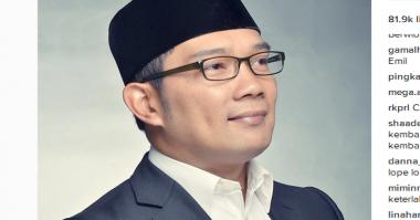FOTO: Jurus Ridwan Kamil ketika Para Jomblo Ditanya Kapan Nikah