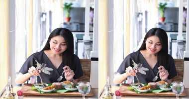 FOTO: Segini Porsi Makan Sandra Dewi?