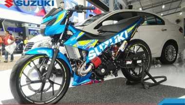 Tiga Motor Modifikasi Ramaikan Booth Suzuki di Jakarta Fair Kemayoran