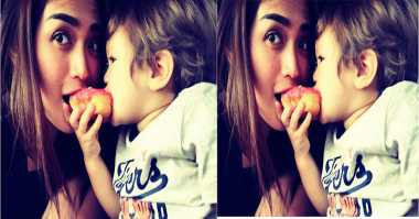 FOTO: Intip Keseruan Jessica Iskandar Makan Donat Bareng Anak